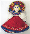 Russian Doll Ornament - Assorted Red/Pink Skirt