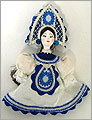 Russian Doll Ornament - Assorted White Skirt