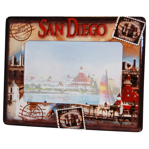 San Diego Souvenir Postal Picture Frame