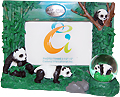San Diego Panda Picture Frame with Snow Globe, 3.5 x 5 Photo