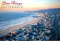 San Diego Beach View Postcard, 6.5 L x 4.5 W
