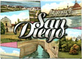 San Diego Historical Landmark Photos - Metal Magnet