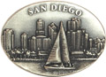 Pewter Magnet - San Diego Downtown Skyscrapers