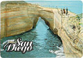 San Diego Sunset Cliffs Natural Park Cardboard Magnet