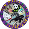 San Diego Magnet Collage Poly Resin