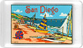 San Diego beach and ocean souvenir fridge magnet