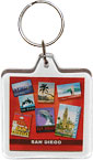 San Diego Souvenir Collage Acrylic Key Chain