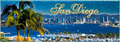 San Diego Skyline and Bay Panorama View Magnet