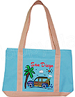 San Diego Souvenir Canvas Tote Bag - Small, 10.5 L