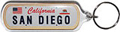 San Diego License Plate Key Chain
