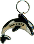 San Diego Dolphin Key Chain with Sand Fill