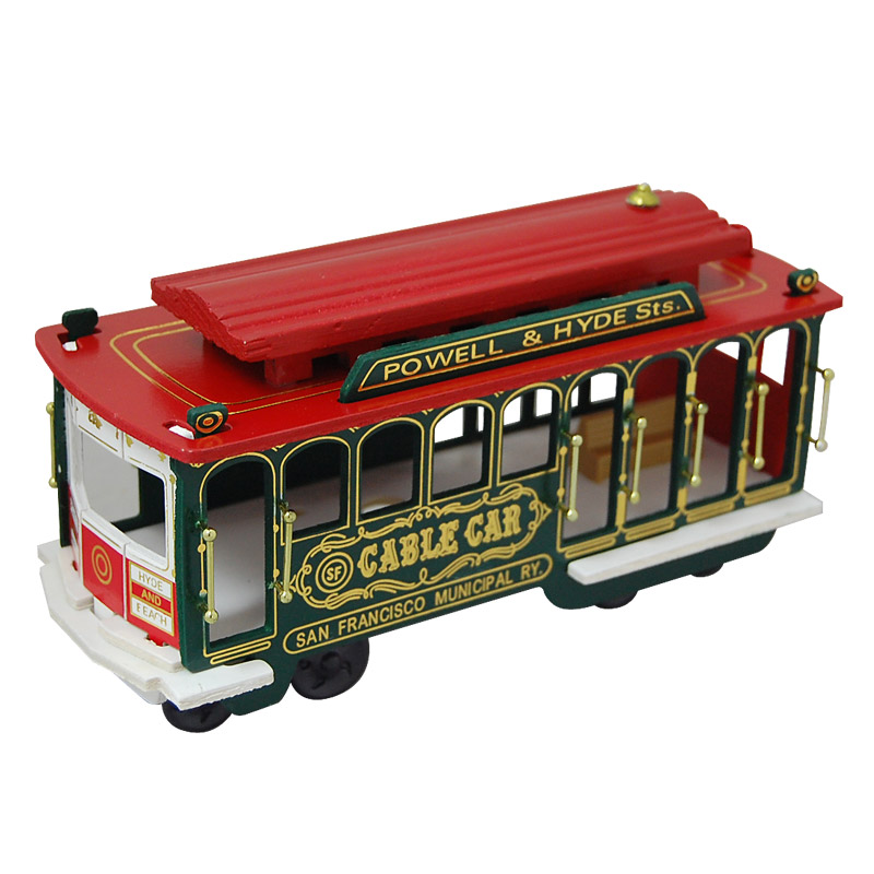 "San Francisco Souvenir Cable Car Model, 7.5""L"