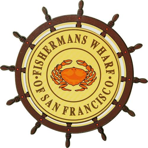 San Francisco Fisherman S Wharf Wheel Fridge Magnet