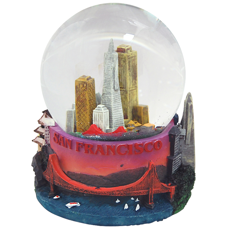San Francisco Snow Globe, Musical 100mm