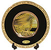 San Francisco Chokin Plate in Black, 6D