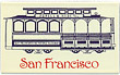 San Francisco Cable Car - Porcelain on Steel Magnet, 2-1/4 L
