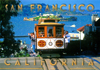 San Francisco Cable Car and Alcatraz Island Postcard, 4x6