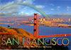 San Francisco Golden Gate Bridge with Rainbow Postcard, 4 x6