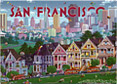 Famous Victorian Houses of San Francisco, Fridge Magnet