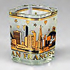 San Francisco Starry Night Black and Gold Shot Glass