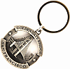 Golden Gate Bridge Keychain - Cut Out Pewter
