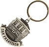 San Francisco - Cable Car Frontview Pewter Metal Key Chain