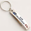 Bottle Opener Keychain from San Francico, Chrome