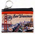 San Francisco - Postal Style Collage Small Zip Purse