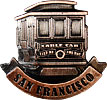 San Francisco Cable Car Magnet - Copper