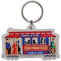 San Francisco Cable Car Acrylic Key Chain