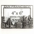 San Francisco Picture Frame in Pewter, 4 x6