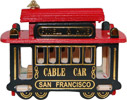 San Francisco Souvenir Wooden Cable Car Magnet