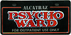 Alcatraz Psycho Ward Miniature License Plate, Fridge Magnet
