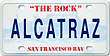 Alcatraz Island Mini License Plate Fridge Magnet, Metal