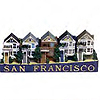 San Francisco - Victorian Style Building Fridge Magnet