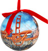 San Francisco Collage Ornament Ball
