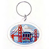 San Francisco Cable Car and Golden Gate Bridge Keychain