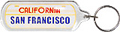 San Francisco License Plate Keychain