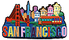 San Francisco Spell Out Letter Magnet