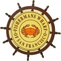 San Francisco Fisherman's Wharf Wheel Fridge Magnet, 3-3/8 D