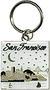 San Francisco Bay Metal Key Chain, Silver