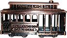 San Francisco Cable Car Pencil Sharpener, Antique Copper
