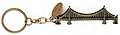 Golden Gate Bridge 3-D Bronze Metal Keychain with Tag