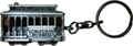 San Francisco 3D Cable Car Key Chain - Pewter