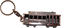 San Francisco 3D Cable Car Key Chain - Copper