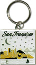 San Francisco Bay Metal Key Chain, Gold/Silver