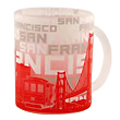 San Francisco Skyline Silhouette Glass Mug
