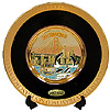 24K Gold Chokin Plate in Black - San Francisco