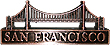 Golden Gate Bridge Die-Cast Miniature, Pencil Sharpener