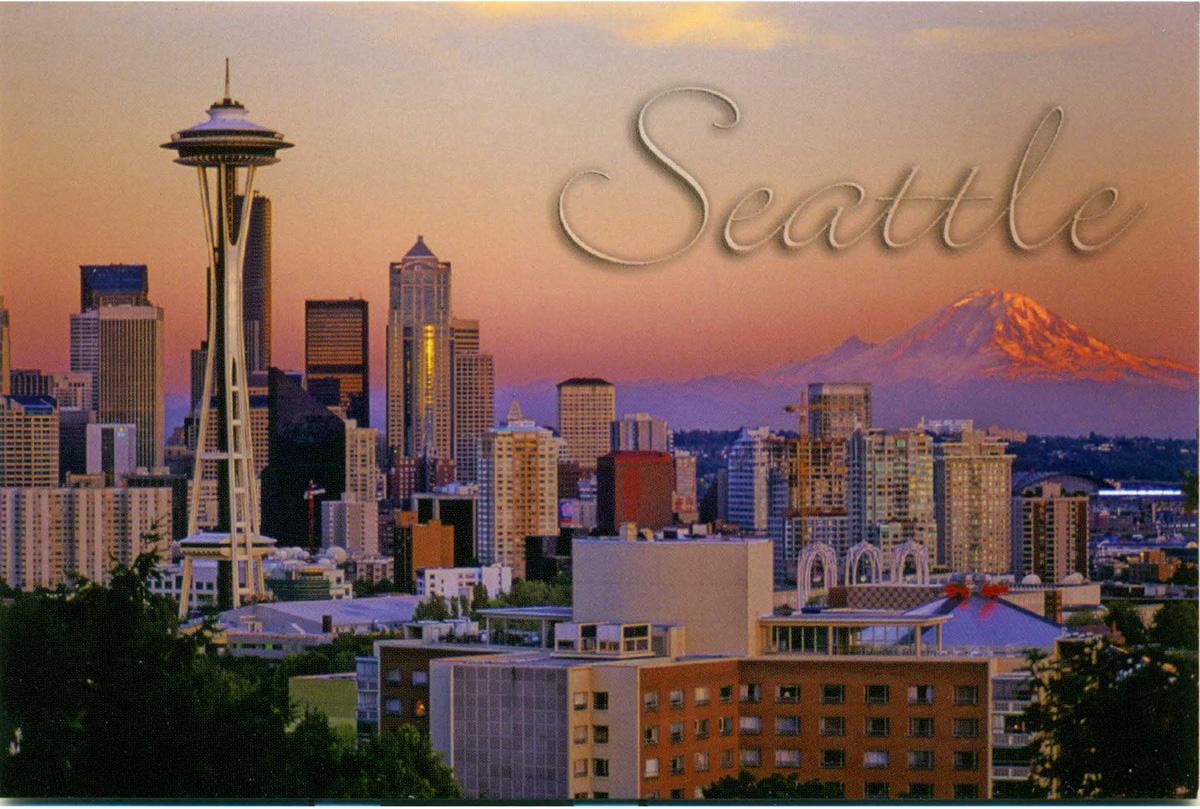 Seattle Postcard, Sunset City View